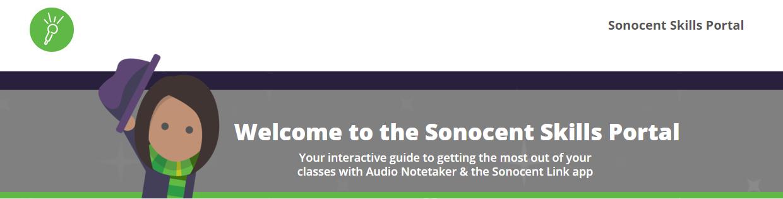 Sonocent Audio Notetaker Learning Portal